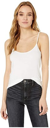 Majestic Filatures Soft Touch Flat-Edge Spaghetti Camisole (Blanc) Women's Sleeveless