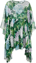 Dolce & Gabbana hydrangea print waterfall dress - women - Silk - 38
