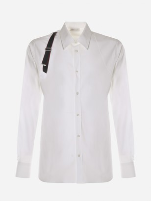 Alexander McQueen Shirt With Contrasting Strap