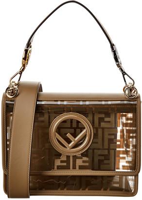 Fendi Kan I F Small Leather & Pvc Shoulder Bag