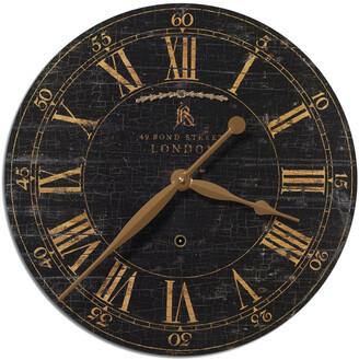 Uttermost Bond Street 18In Black Wall Clock