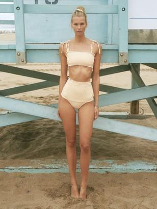 VERDELIMON Nilo Smocked High Waist Bikini Bottoms