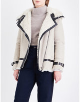 Belstaff Ladies Sand Asymmetric Practical Marsh Shearling Jacket