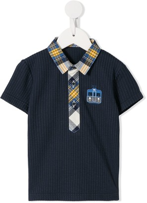 Familiar Ribbed Polo Shirt