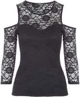 Jane Norman Cold Shoulder 34 Sleeve Top