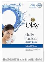 Olay Daily Facials Deeply Clean Wipes, 4-in-1 Water Activated Cloths