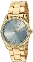 Rampage Women's 'Classic' Quartz Metal and Alloy Watch, Color:Gold-Toned (Model: RP1062GD)
