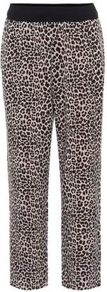 Varley Catherine leopard-print trackpants