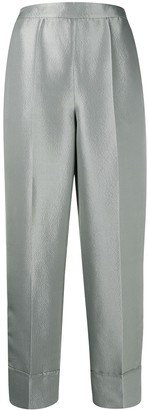 Emporio Armani Metallic High-Waist Trousers