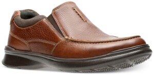 Clarks Men's Cotrell Free Leather Slip-Ons Men's Shoes