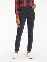 Lee Mom Tapered Jeans, Flat Black Stone