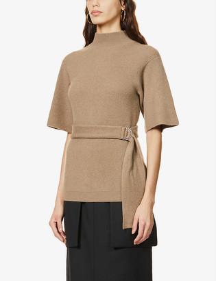Brunello Cucinelli High-neck belted cashmere jumper