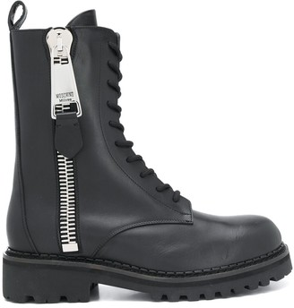 Moschino Tall Lace-Up Combat Boots