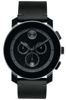Movado Bold TR90, Stainless Steel & Leather Strap Chronograph Watch