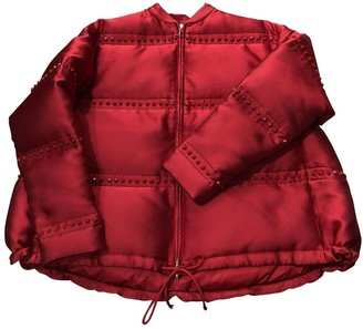 Valentino Red Leather Jacket for Women