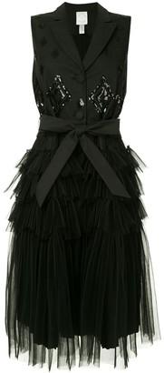 Huishan Zhang Tulle Midi Dress