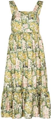 Shrimps Sylvia floral-print midi dress