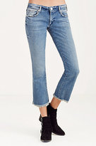 True Religion Karlie Cropped Flare Womens Jean