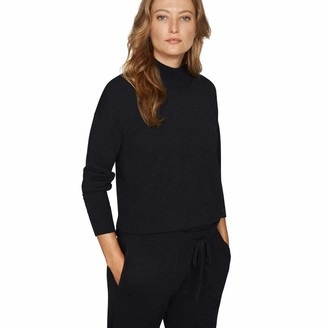 b new york Women's Long Sleeve Mock Neck Oversize Tunic Top