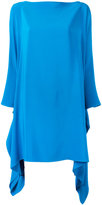Gianluca Capannolo long sleeve flared dress - women - Silk - 38