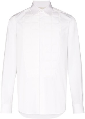 Bottega Veneta Embossed Bib Buttoned Shirt