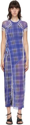 Ottolinger SSENSE Exclusive Purple Mesh Maxi Dress