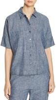 Eileen Fisher Collared Chambray Shirt