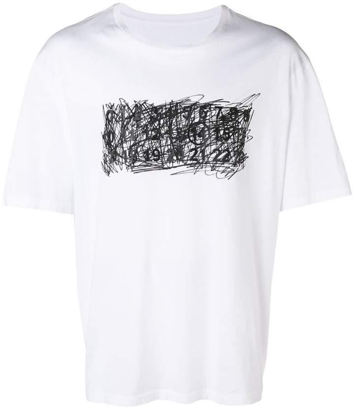 Maison Margiela scribble logo-print T-shirt