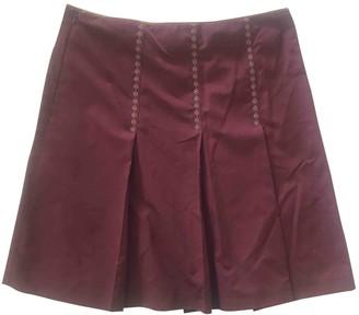 Alberta Ferretti Burgundy Skirt for Women Vintage