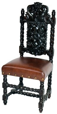 Astoria Grand Parkersburg Upholstered Queen Anne Back Side Chair in Brown