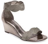 Adrianna Papell Women's Adelaide Metallic Wedge Sandal