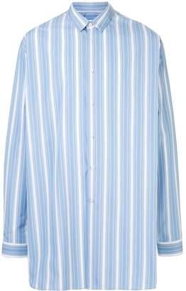 Jil Sander striped boxy extended shirt