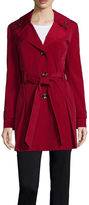 Liz Claiborne Double Collar Belted Trench Coat - Tall