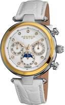 Akribos XXIV Women's AK441WT Classic Diamond Automatic White Dial Watch