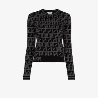 Fendi FF motif sweater