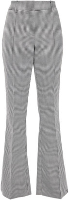 Veronica Beard Hibiscus Houndstooth Woven Flared Pants