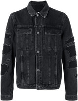 Helmut Lang shredded trim denim jacket - men - Cotton/Polyester - S