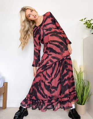 Religion maxi dress in animal print