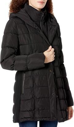 Calvin Klein womens petite walker polyfill coat