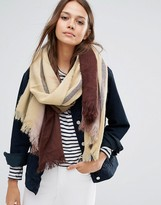 Pieces Ombre Scarf in Burgundy
