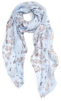 Hinge Women's Kaleidoscope Bloom Lace Inset Scarf