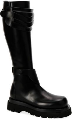 Bottega Veneta Flat Tall-Shaft Combat Knee Boots