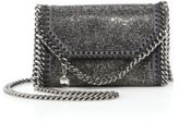 Stella McCartney Tiny Crystal & Faux Leather Chain Clutch