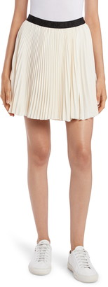 Moncler Logo Band Pleated Miniskirt