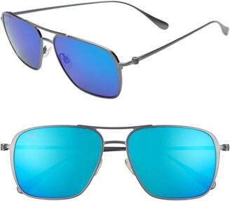 Maui Jim Beaches PolarizedPlus(R)2 57mm Navigator Sunglasses