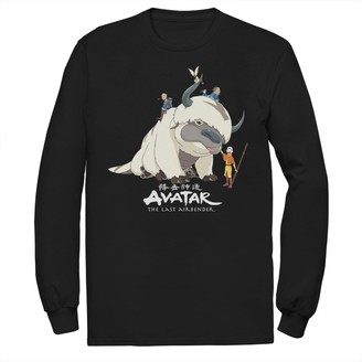 Licensed Character Men's Avatar: The Last Airbender Appa Ride Group Shot Tee