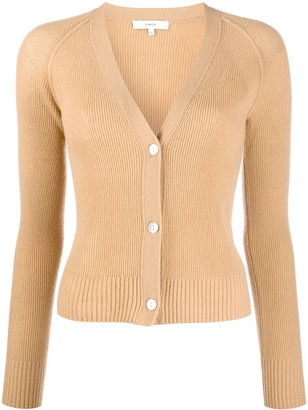 Vince Ribbed Knit Cardigan