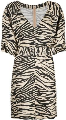 Nicholas zebra print mini dress