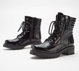 Miz Mooz Leather Lace-Up Boots - Parish