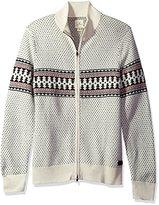 Dockers Long Sleeve Full Zip Fairaisle Sweater